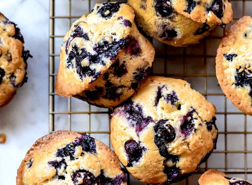 Muffins Aux Bleuets Faciles et Santés