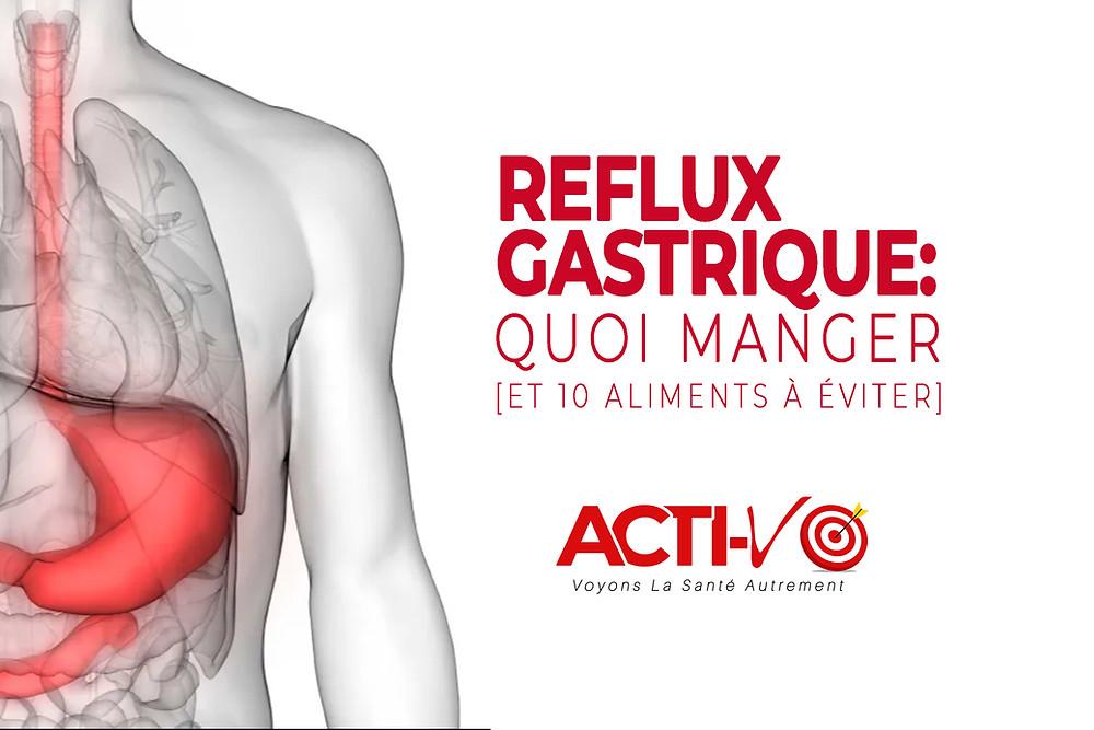reflux gastrique, quoi manger
