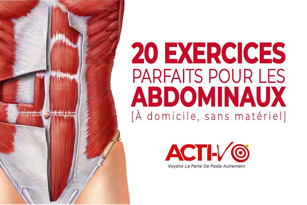 Exercices pour les abdominaux.à domicile
