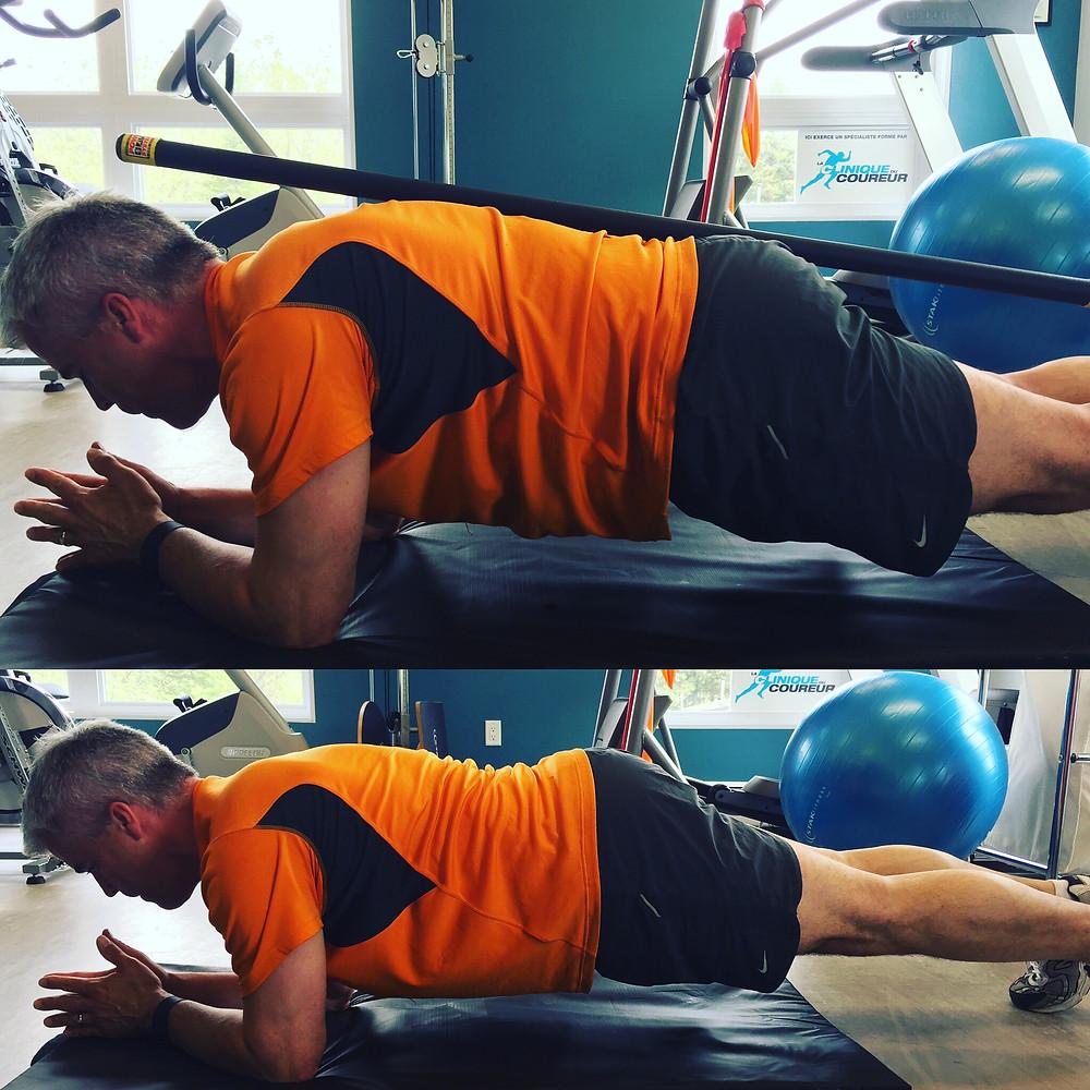 technique planche abdominale