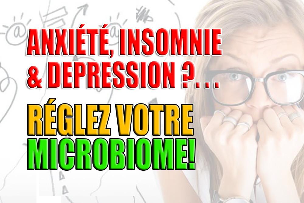 Anxiété, Insomnie Dépression, Microbiome