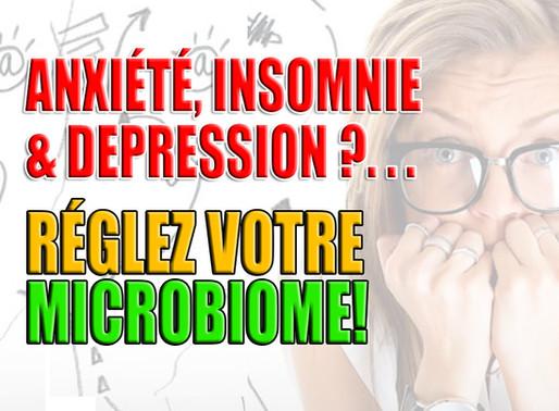 Anxiété, Insomnie et Dépression? Réglez Votre Microbiome!