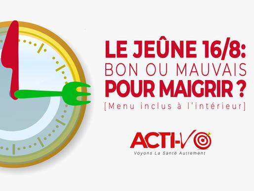 Jeûne Intermittent 16/8: Bon Pour MAIGRIR? [Menu Inclus]