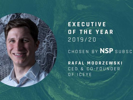 Rafal Modrzewski, CEO of ICEYE, as the Executive of the Year