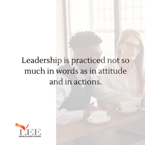 Actions define a leader