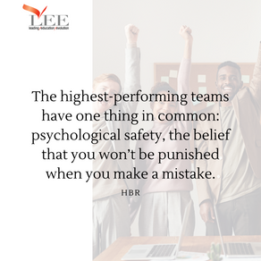 Psychological safety drives performance