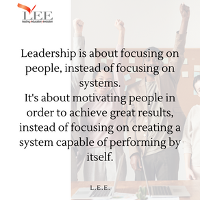 Leadership is about people