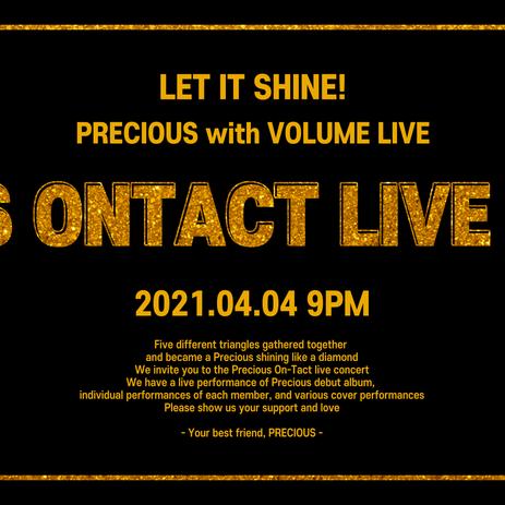 PRECIOUS 프레셔스 온라인 라이브 콘서트 + 온라인 팬사인회 | VOLUME LIVE