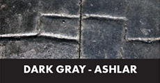 dark gray ashlar