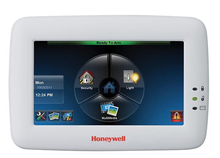 Security System Touchscreen Pane