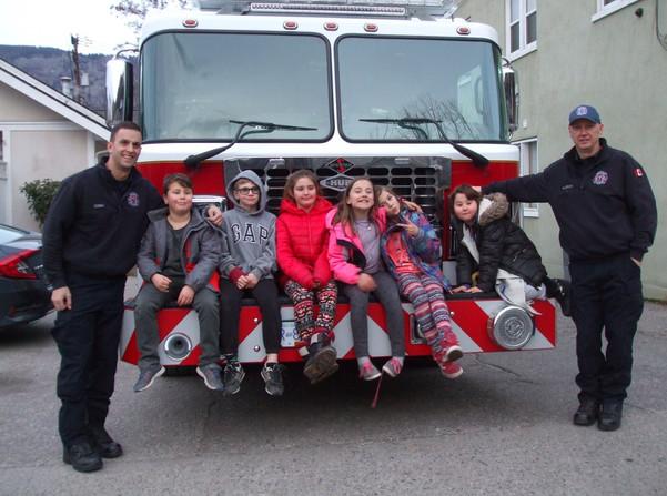 Kids at firehall