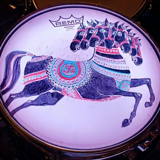 10 Inch Horse Tom Design, inspired by George Harrison album art