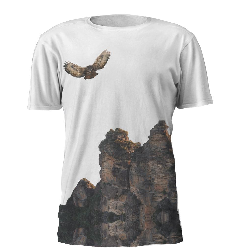 Owl Nature Print T-shirt