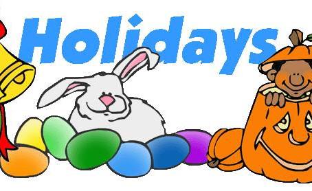 Easter, Halloween, and Christmas