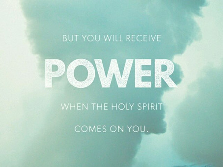 But you will receive power...