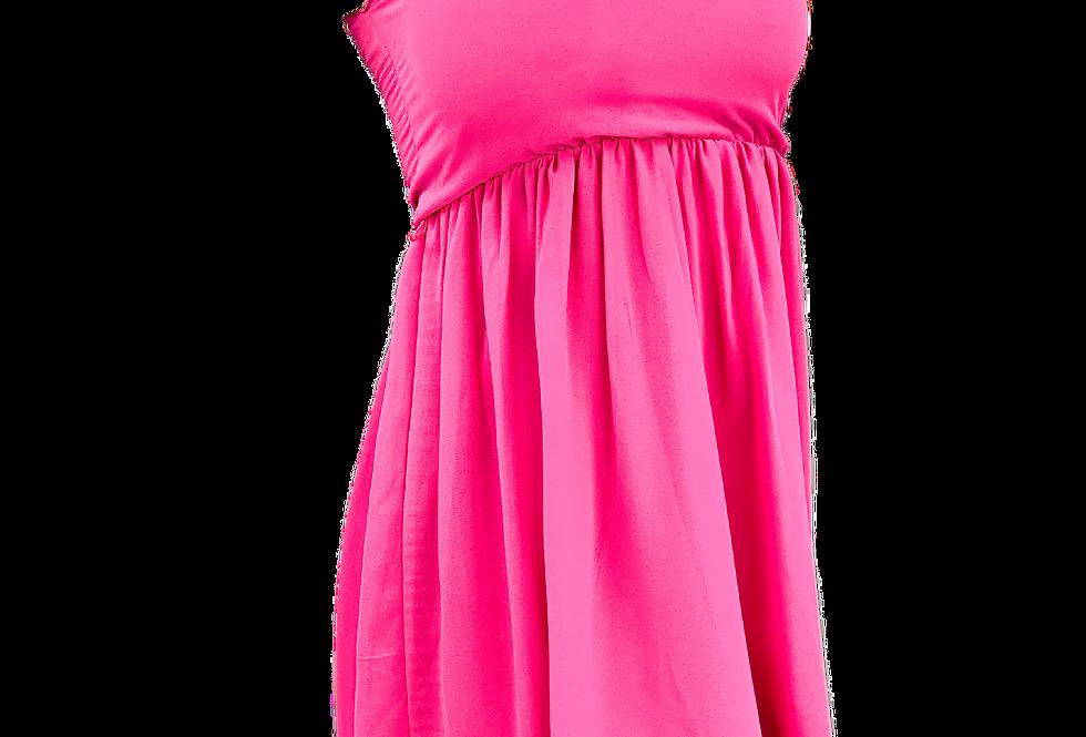 Dress Summer Pink Lady Moda