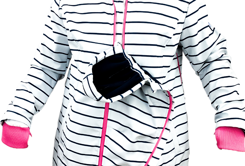 Praktische Jacke mit Baby-Einsatz