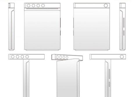 Xiaomi patenteia design de smartphone dobrável com câmeras giratórias