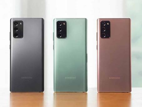 Samsung revela Galaxy Note 20 preparado para o 5G no Brasil
