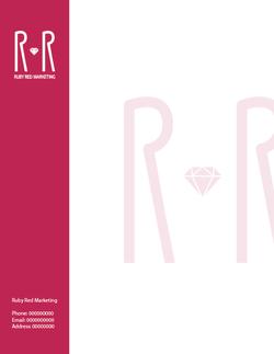 Ruby Red Letterhead