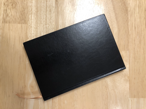 Hypothetical black book containing lists of criminal records