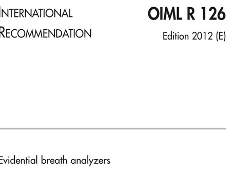 OIML R126 is the International Standard for Evidential Breath Analyzers
