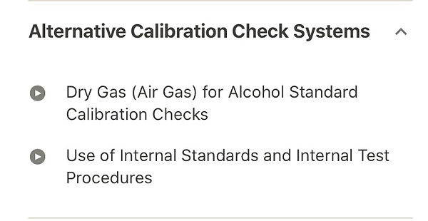 Alternative DUI Calibration Check systems