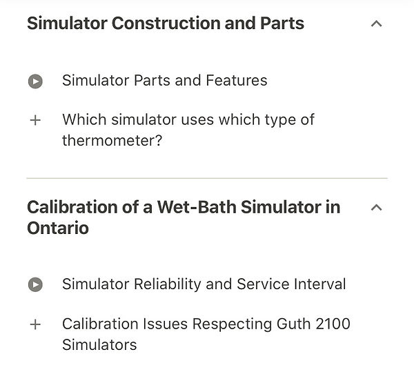 Wet-bath Simulator construction and parts