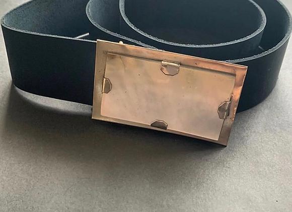Hebilla mini rectangular guampa o nacar