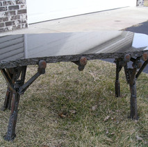 Garden Bench w/ Granite Slabai