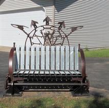 Steampunk Park Bench