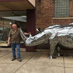 Dale with Harley the Rhino