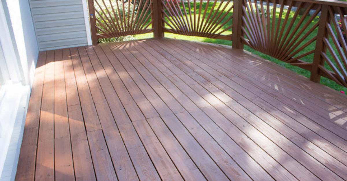 Wooden deck remodel