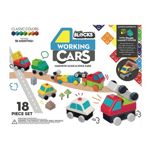 People Blocks® - Working Cars 18 pcs
