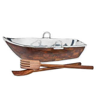 Godinger Row Boat Salad Bowl
