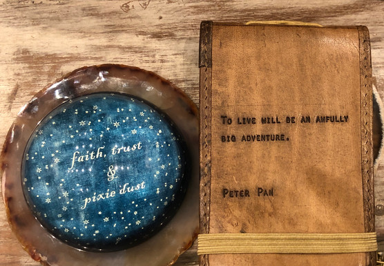 """""""It's a sign!"""" Found these treasures at Sugarboo after writing my story """"Peter Pan Boy"""""""
