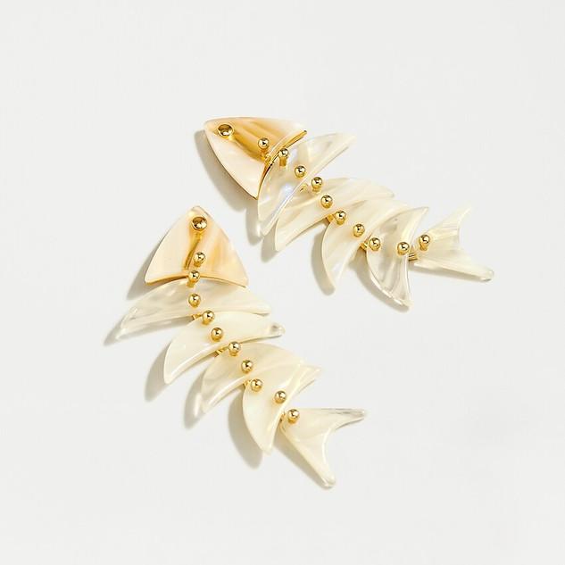 J.Crew Fish Bone Earrings