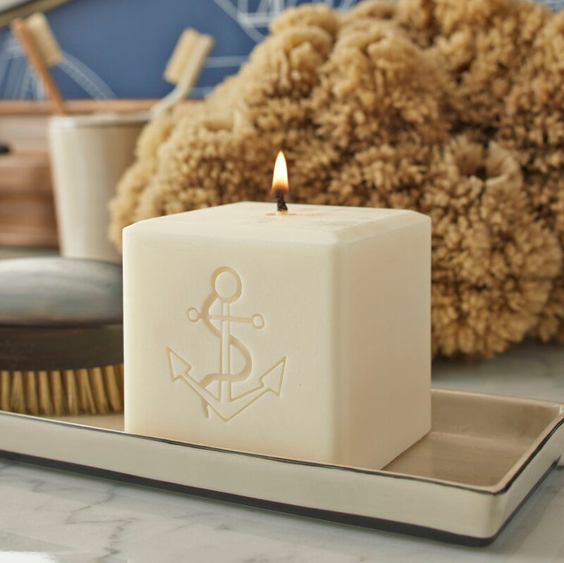 Engraved Anchor Candle