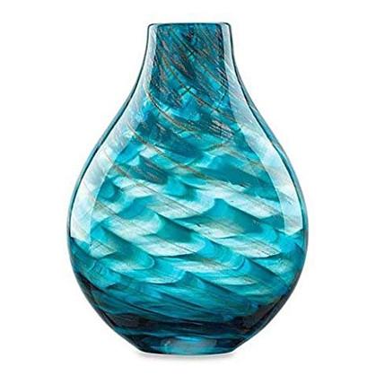 Lenox Seaview 11-inch swirl glass vase