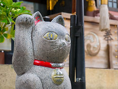 Ceramic Japanese welcoming Cat or lucky