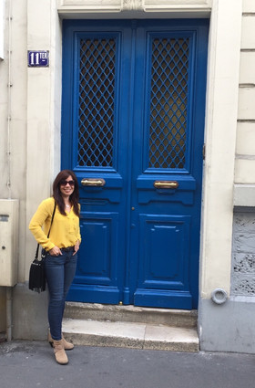 Open the blue door