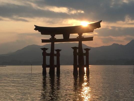 Floating Tori Gate at Miyojima