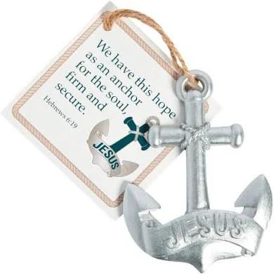 Jesus anchor ornament