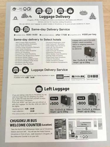 lugggage information