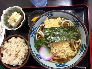 Noodles with chicken katsu