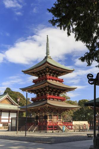 Three story Pagoda in Narita