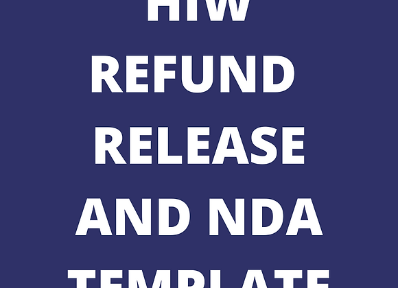 Refund Release and NDA Template