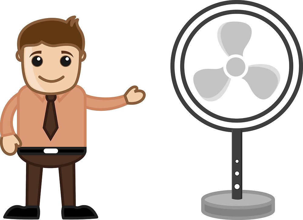 Improve the circulation in your home with ceiling and standing fans