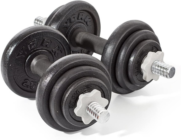 York Fitness 20 kg Cast Iron Spinlock Du