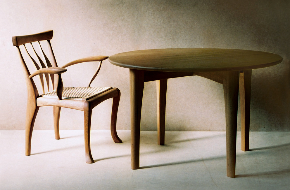 TABLE & ARM CHAIR